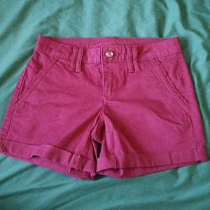 Pants - Maroon shorts